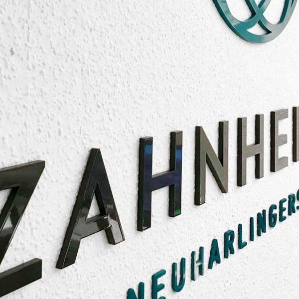 Zahnheimat 3D Buchstaben